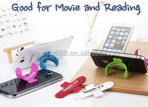 Novel sticker type silicone smart wallet phone pouch