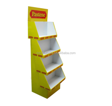Customize design Pop promotion advertising cardboard floor display stand