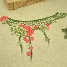 neck design of blouse cheap handmade collar embroidery trim for ladies suit