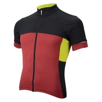 Skin Cooling Reflective elements Contrast Red Color Full Zip Blank Cycling Jerseys