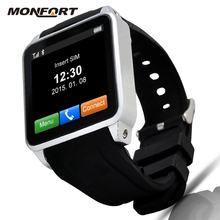 2016 New Wearable Device High definition Capacitive Touch Panel micro sim card watch phone
