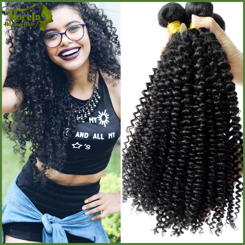 Mongolia hair bundles weave remy hair natural color kinky curly hair