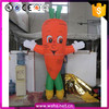 Best-sale custom inflatable vegetable carrot costume for advertising parade