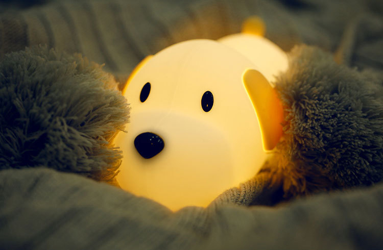 Rechargeable Silicone Kids Puppy Night Light Dimmable