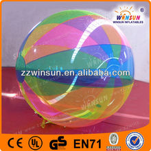 hot selling PVC TPU and mixed material of fabric water ball in stock 5pieces