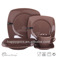Ceramic chocolate color dinnerware set