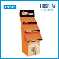 Floor corrugated cardboard retail displays for baby staff