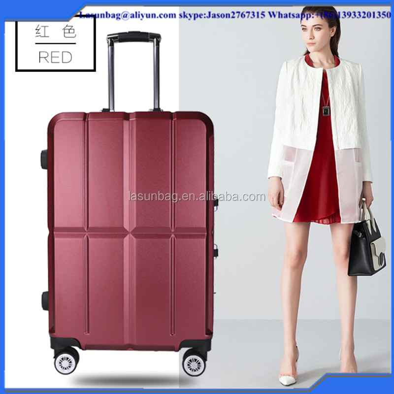 "2016 Hot Sale 20"" 24""Sky Travelling Trolley Sets PC Classic Luggage Bag Sets High Quality Trolley Bags"