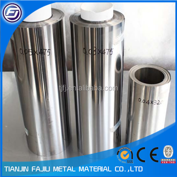 stainless steel foil 0.01mm 0.02mm
