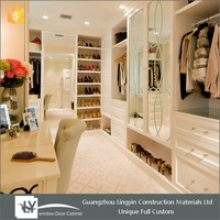 2017 new arrival elegance swing wall to wall wardrobe cabinet with mirror 2 doors manufacture in Guangzhou
