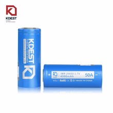 2017 Kdest 26650 battery big mod 50A 4500mAh High Power Li-ion Rechargeable Battery