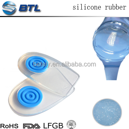 Heat resistant liquid silicone for shoe / foot pad
