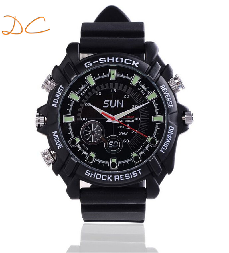 Full hd sports watch camera 1080p with IR night vision hidden camera