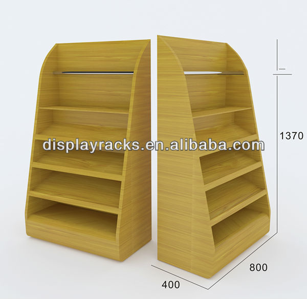 simple and practical multi-functional display shelf for retail shop