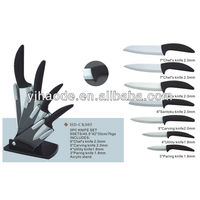 4pcs Ceramic knife with acrylic block
