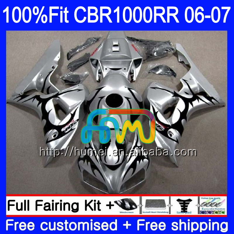 Injection Body For HONDA black flames CBR 1000 RR 06 07 CBR 1000RR 86HM8 CBR1000RR 06 07 CBR1000 RR 2006 2007 OEM Fairing kit