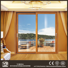 Goden Quality Wooden and Aluminum Sliding Door for Living Room