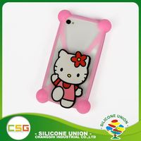 Long working life mini cartoon non-stick silicon phone case