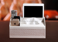 PU Leather Multifuctional Tissue Box Home Organization