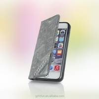 Grey cover leather and Card pocket case for iphone6