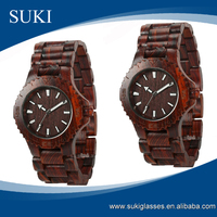 Red Sandalwood watches fashion japan movement wooden watch
