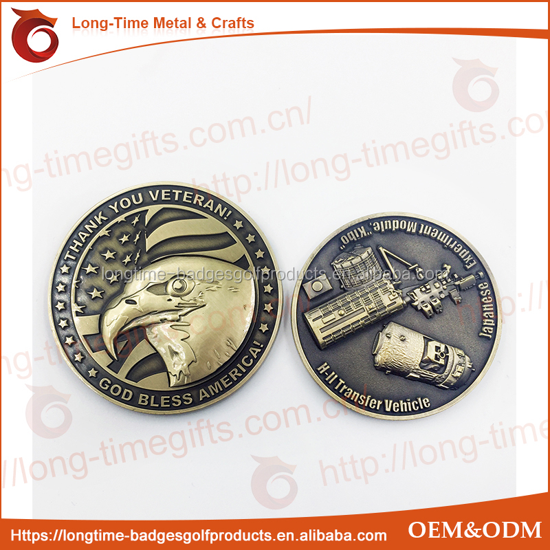 High Quality Vietnam Veteran Challenge Coin Two Sided Coin