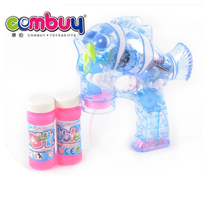 Popular cartoon clown fish toy electric bubble gun