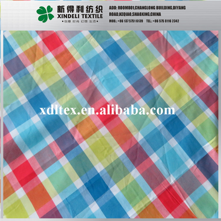 tr smooth colorful check 100%cotton a vibrant skirt fabric