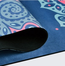 Eco Friendly Microfiber Suede Rubber Yoga Mat Digital Printing, Custom Sublimation Print Pilates Mat Foldable