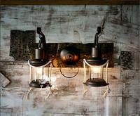 Modern classical wall lamp American rustic bedside lighting