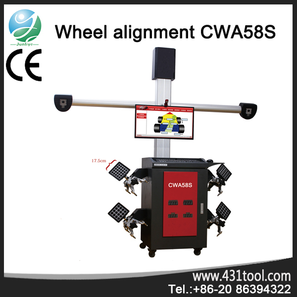 multi-language visual vehicle moving in 3d wheel alignment CWA58S