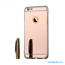 Shenzhen Manufacturing New Tpu Girl Make Up Mirror Cell Phone Cover Plating Phone Case For Iphone 6 6S 7