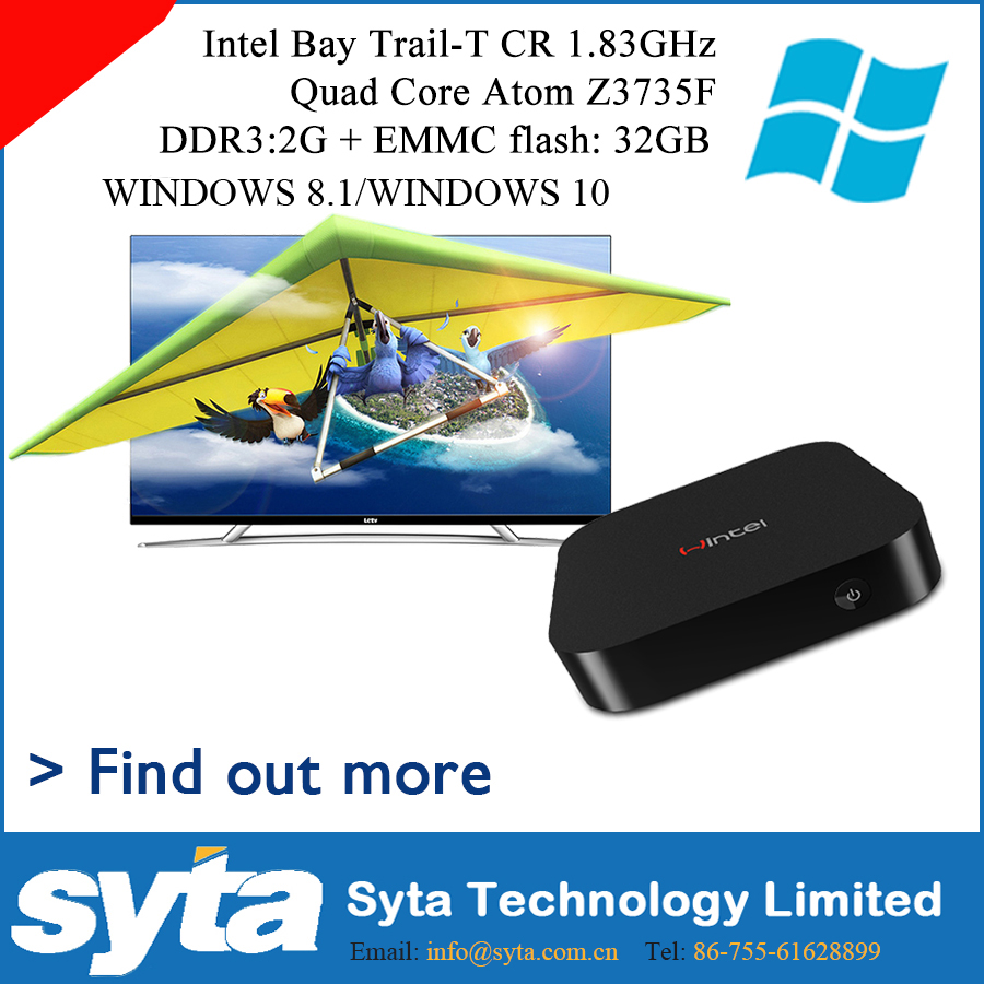 W8 TV Android Box 64bit Intel Atom Z3735F CPU Windows 10 and Android 4.4 Dual OS TV Box Windows