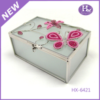 New Product HX-6421 Silver Round Cock Jewelry Box Wholesale