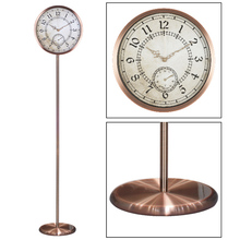12inchbrass home manufacture/metal wall clock with weather station/grandfather clock