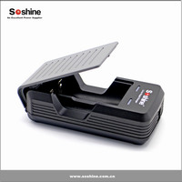 Soshine S2 universal intelligent fast 18650 battery charger 3.7V, dual slots charger for li-ion 18650 batteries