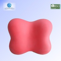 Promotional PU stress relief red butterfly shape memory foam bath pillow