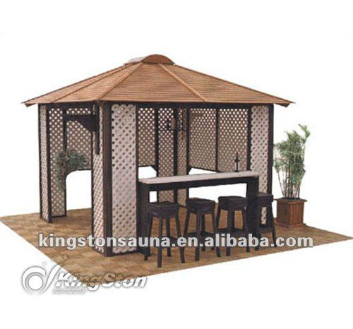 Outdoor Garden Pavilion Cheap Wooden Gazebo(China)