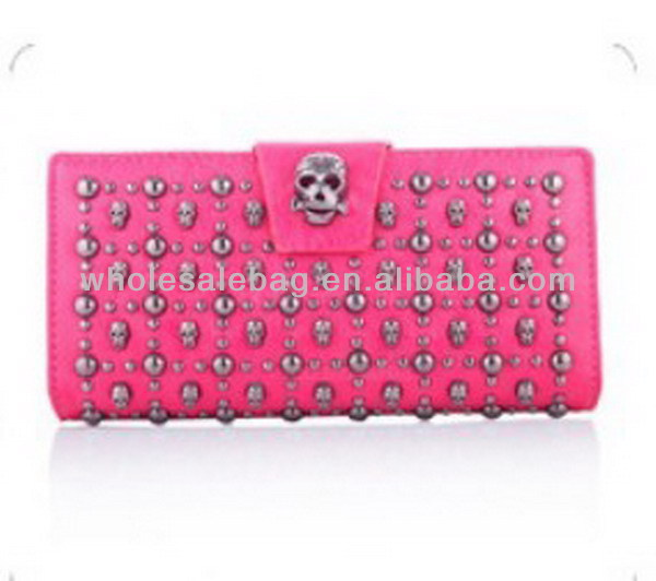 Wholesale Ladies Human Skeleton Wallet Cheap Women's Skull Purse