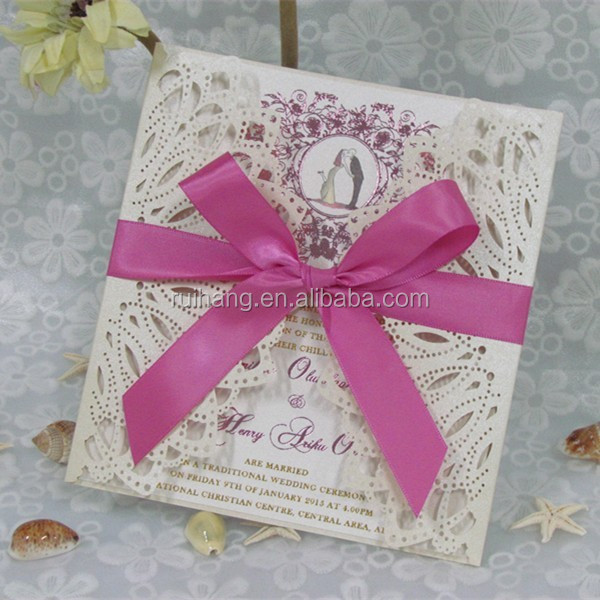 handmade & best selling wedding invitation card