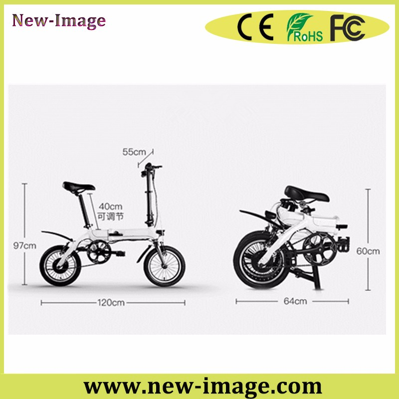 New Electric Folding Bike Bicycle Road 300w Lithium Battery City Ebike