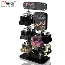 Capture Customers' Attention Floorstanding Metal Clothing Store Fixture Hanging Clothes Rack Underwear Display Stand