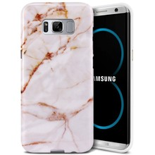 C&T Marble Gold Slim Shockproof Flexible Soft TPU Rubber Skin Case for Samsung S8