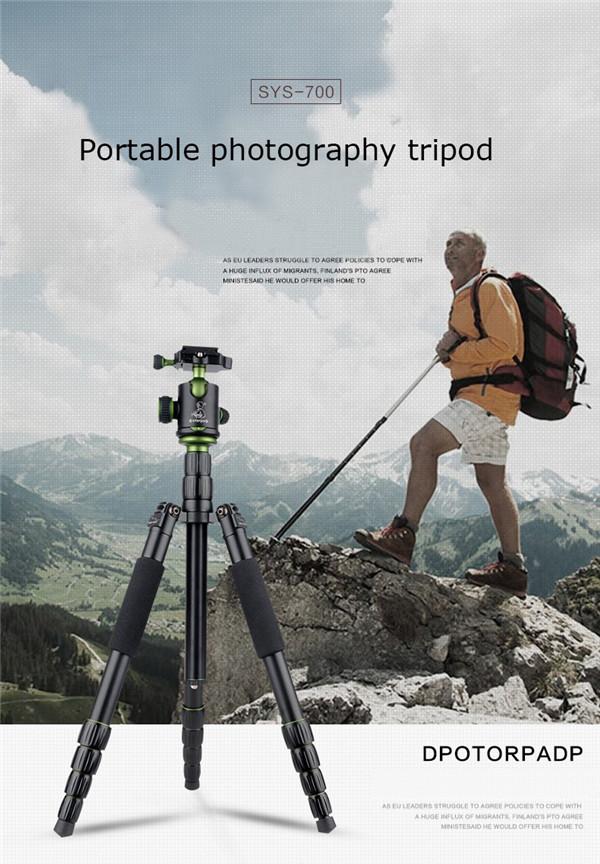 SYS 700 DSLR Camera Tripod Professional Portable Travel Photography Micro Single Head For Nikon