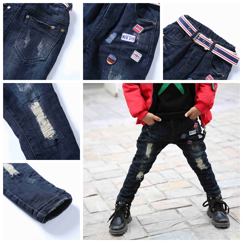 2017 Fashion Man Latest Cool Design Jogger Jeans For Kids