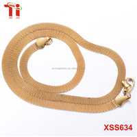 Fashion jewellery pendant necklaces, new gold neck mesh chain designs for men