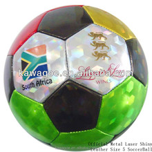 Official Metal Laser Shiny Leather Size 5 SoccerBalls