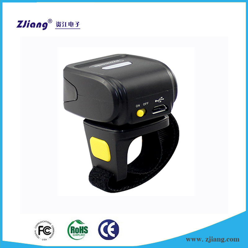 Shenzhen Scanner Low Cost 1D Barcode Scanner Barcode Reader Ring Bluetooth Wireless Bar Code Scanner ZJ-7510