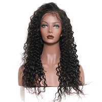Cambodian vendor 40 inch pre plucked loose deep wave swiss 100% human hair full lace wig