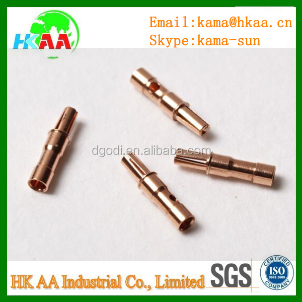 micro machining service brass pogo pins / pin connectors